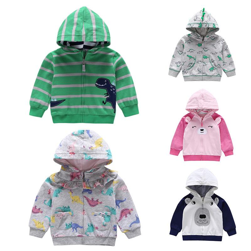 bb64a83c8463 Baby Boys Girls Sweatshirts Knit Cotton Hooded Baseball Uniform ...