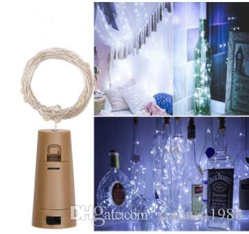 String led Wine Bottle with Cork 20 LED Bottle Lights Battery Cork for Party Wedding Christmas Halloween Bar Decor Warm White