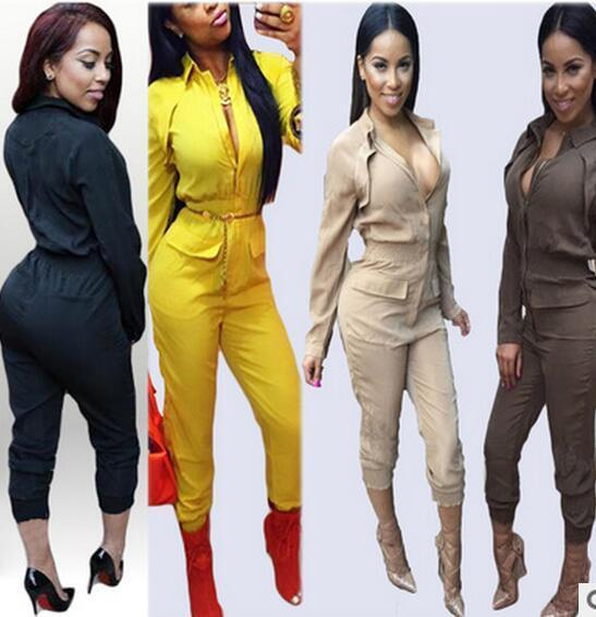 New Women Jumpsuits Long Sleeve Bodysuit Fake Elegant Rompers Ladies Runway  Pants One Piece Pants S-XL Online with  39.6 Piece on Daiming s Store  b6acb2e6a