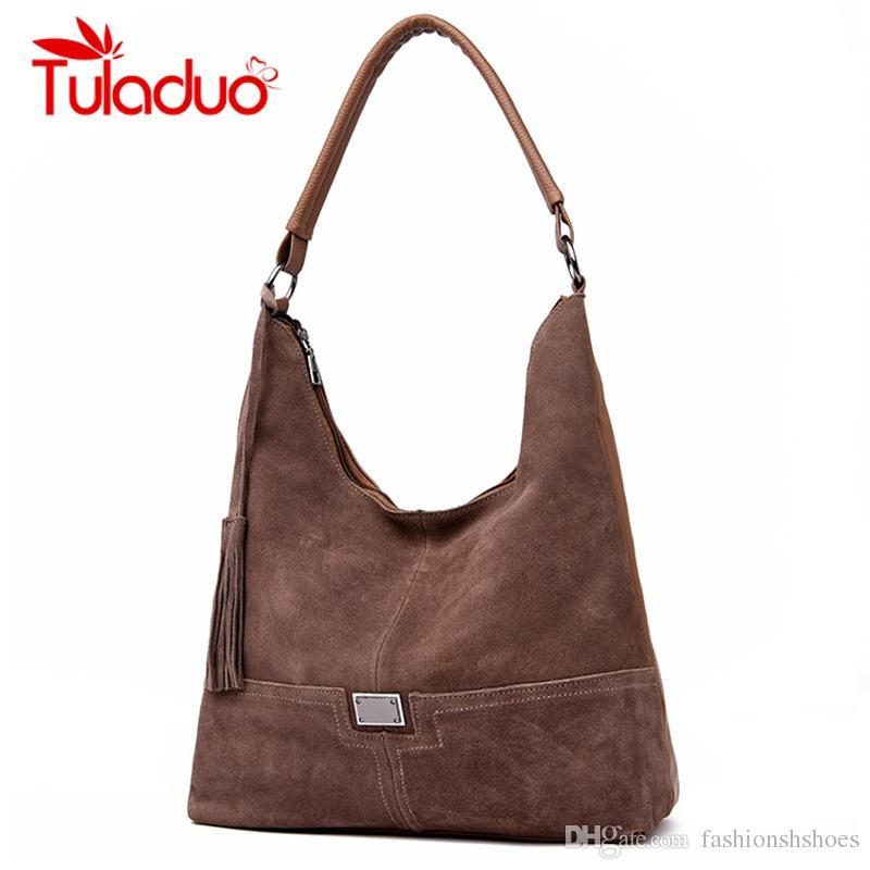 665ee812cfb0 Real Split Suede Bags For Women 2018 Luxury Handbags Women Bags Designer  Vintage Leather Shoulder Bag Ladies Messenger Sac #193801 Hobo Purses  Leather Bags ...