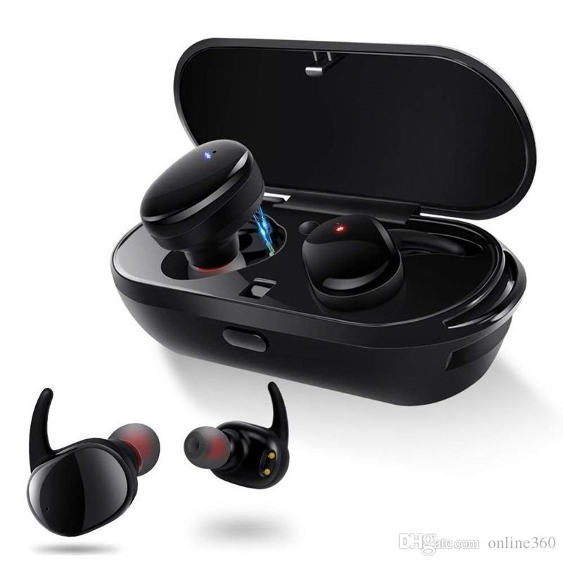 4d1fd915ad2 TWS Bluetooth 5.0 Earphone Mini Twins Wireless Headset Waterproof Sport  Headphone In Ear Earbuds With Charging Socket For Iphone Android Best  Earbuds For ...