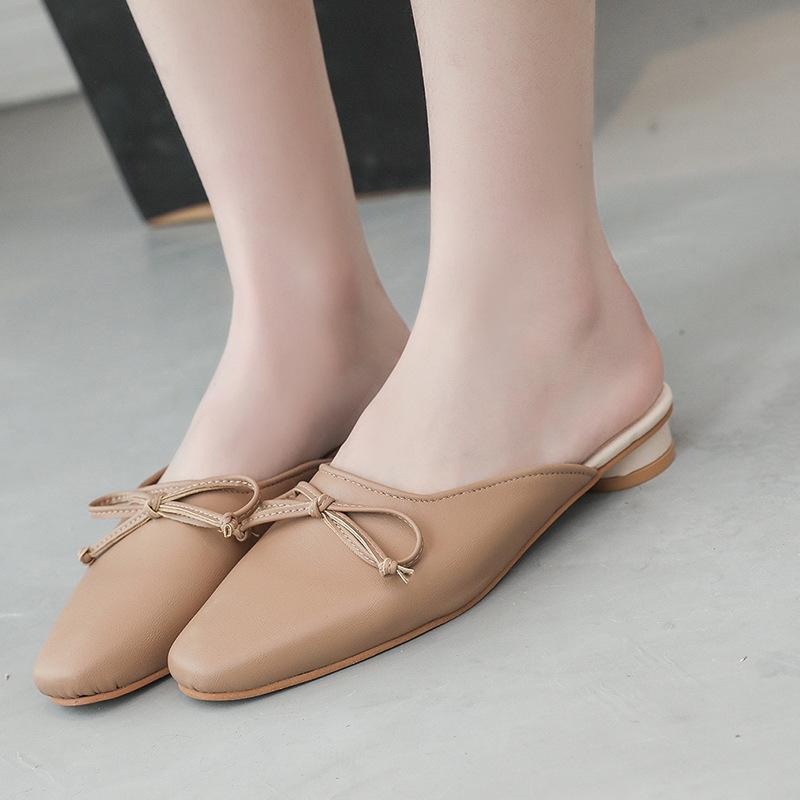 10b34802bb0c75 Sexy2019 Korean Sharp Sandals Woman Shallow Mouth Pattern Joker Bow Flat  Slipper Student Women S Shoes Group Buy Shoes Online Wedge Boots From  Dresshoes