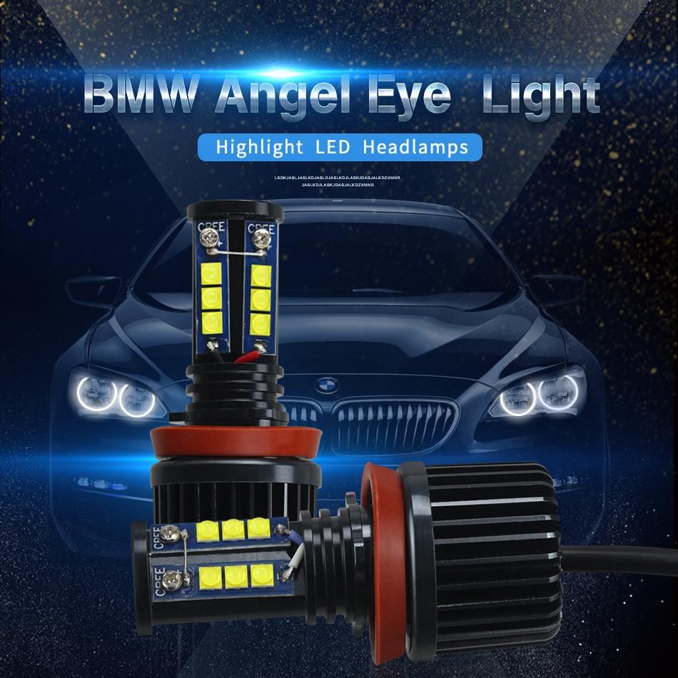 2019 Fit Bmw H8 H11 Led Angel Eyes For Bmw E60 E61 E90 E92 E70 E71