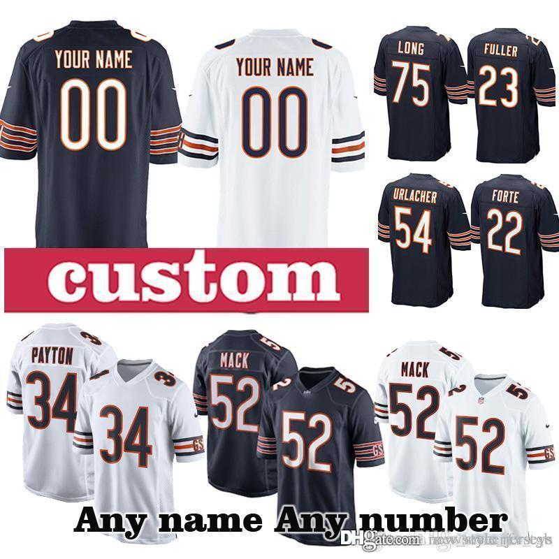 reputable site 2a39f 4cc2c 52 Khalil Mack custom Game CHICAGO BEARS jerseys 89 Mike Ditka 94 Leonard  Floyd 80 Trey Burton 15 Josh Bellamy 75 Kyle Long