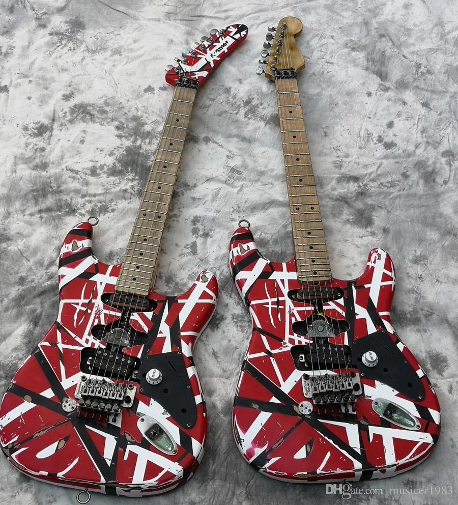 High Quality Electric Guitar, Eddie Van Halen Best quality Guitars, aged relic st, upgraded quality hardwares, shipped quick