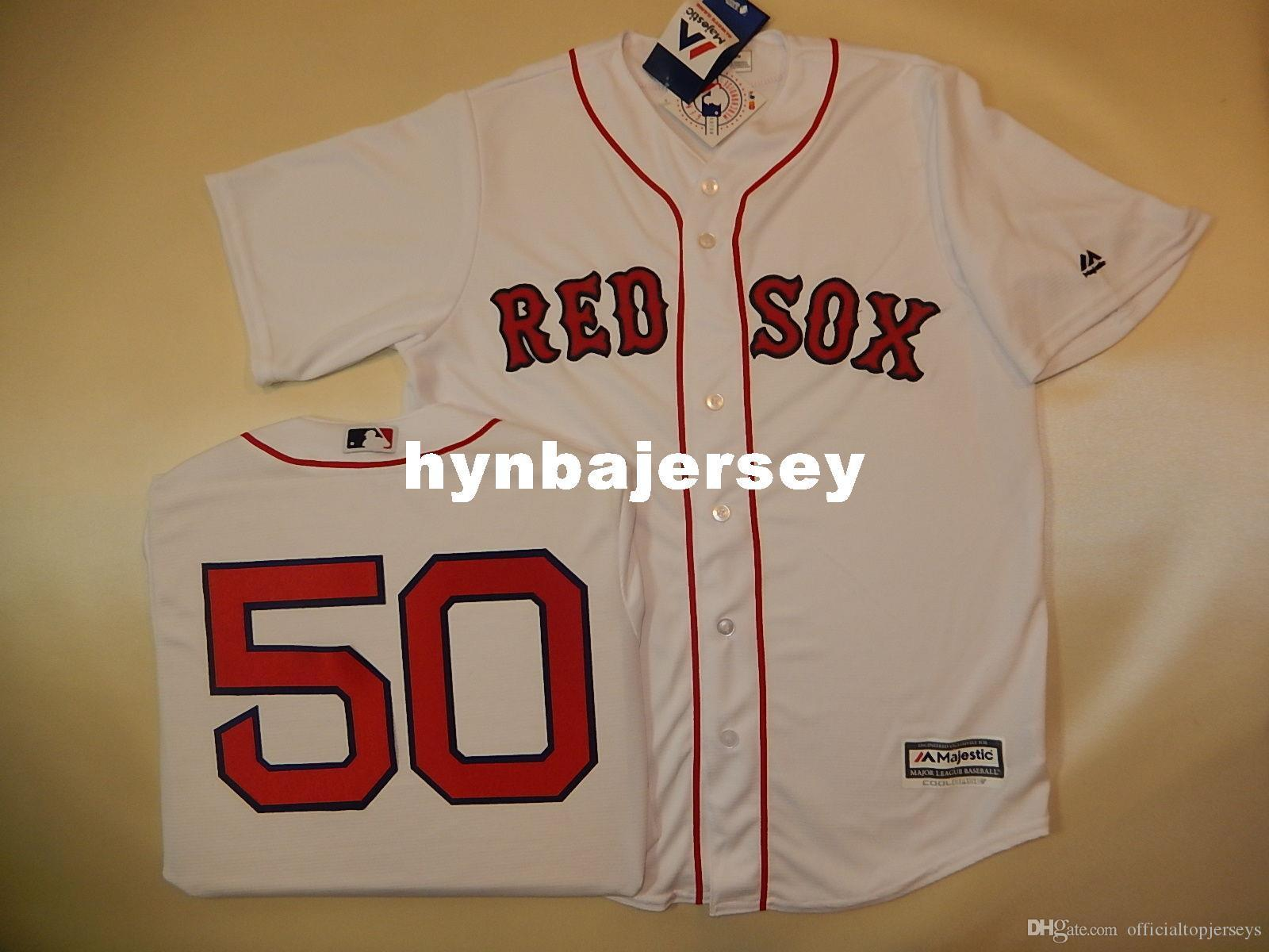 Personnalisé pas cher MAJESTIC Boston MOOKIE BETTS # 50 SEWN Base de baseball fraîche Jersey maillot Hommes maillots cousus Big And Tall TAILLE XS-6XL à vendre