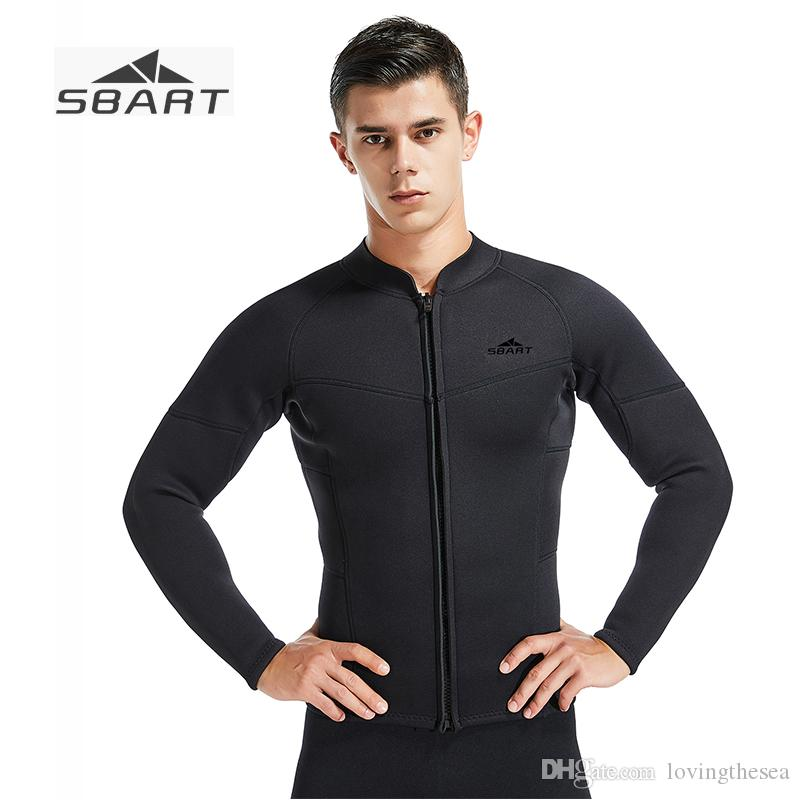 4a138596d8 SBART 2019 New 3MM Men s Separated Long Sleeve Wetsuit Jacket Full ...