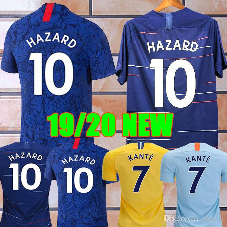 aebadb1ab Thailand 19 20 HAZARD JORGINHO PULISIC Soccer Jersey 2019 2020 ...
