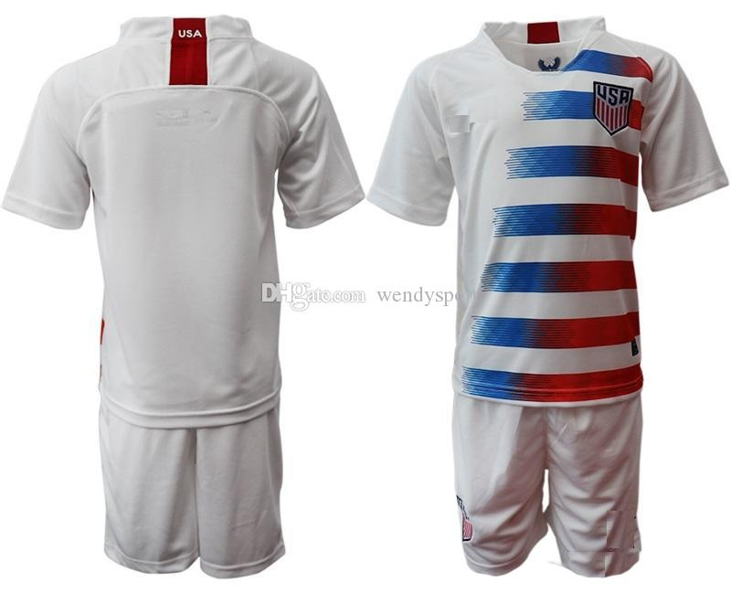 wholesale dealer b85ad 95f84 USA Kids kits 2018 2019 PULISIC Soccer Jersey 19 20 DEMPSEY BRADLEY  ALTIDORE WOOD America child Football jerseys child United States Shirt