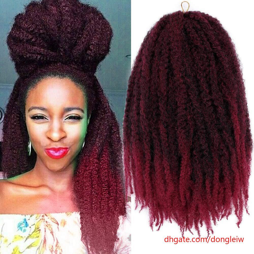 2019 Hot Slling 1packs Marley Braid Hair Afro Twist Marley Crochet
