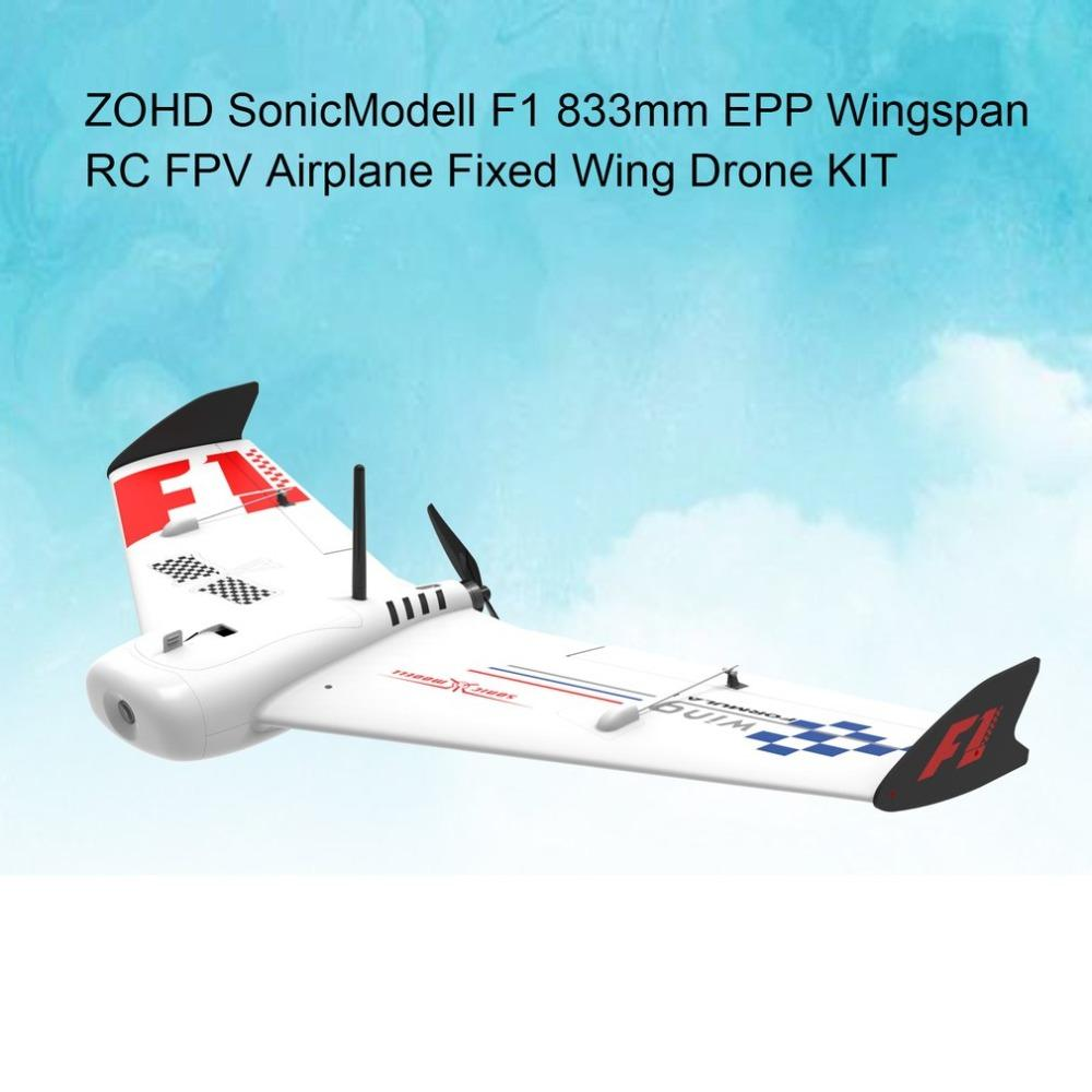 ZOHD SonicModell F1 833mm EPP Wingspan RC FPV Airplane Fixed Wing Glider Drone Plane Model with 190km/h High Speed KIT Version