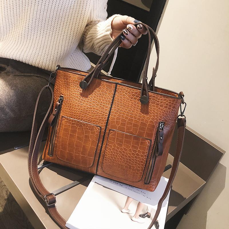 9e3e603322 2019 New Hot Sale Handbag Women Casual Tote Bag Female Large Shoulder  Messenger Bags High Quality Alligator Leather Handbag Handbags Brands Womens  Handbags ...