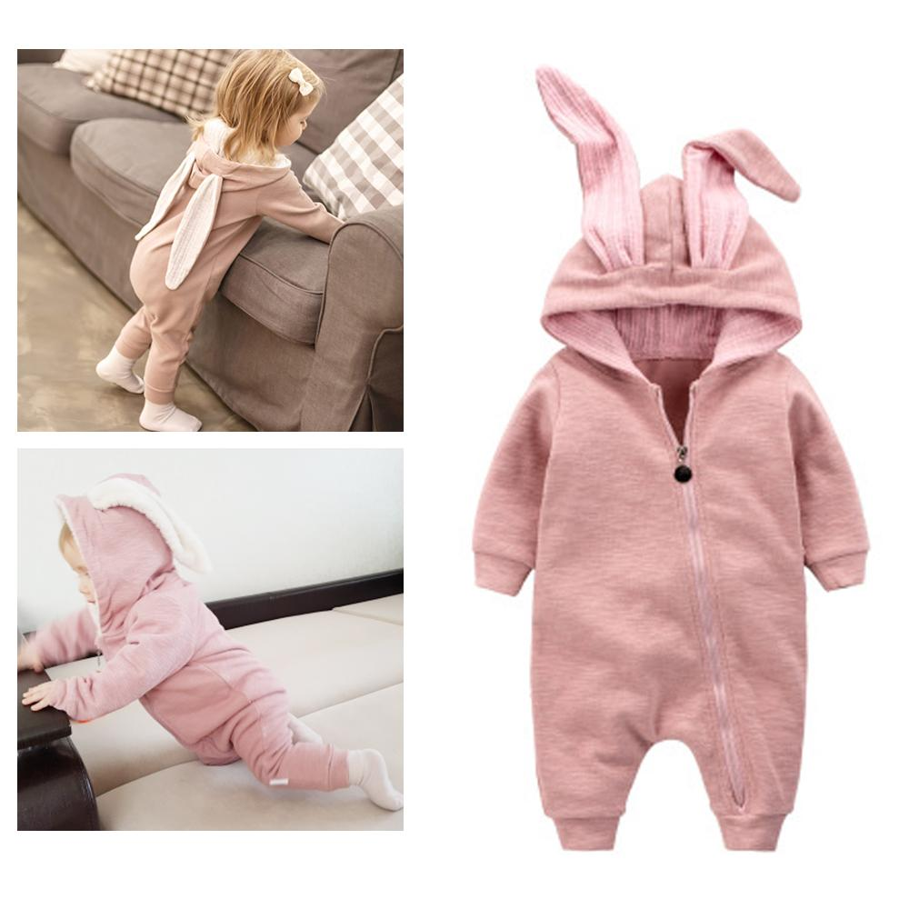 a1aec1f3d 2018 Newborn Infant Baby Girl Boy Clothes Cute 3D Bunny Ear Romper Jumpsuit  Playsuit Autumn Winter Warm Bebes Rompers One Piece Toddler Boys Shorts  Little ...