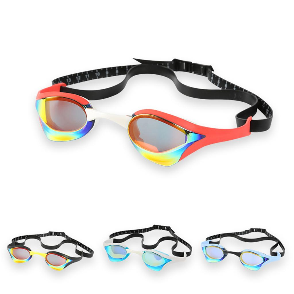 50aa9aff2f0b 2019 Electroplating Swimming Goggles Waterproof Anti Fog UV Resistant Swim  Glasses Elastic Head Belt Eyewear Swimming Pool Goggles From Yerunku