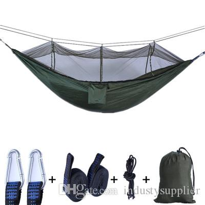 Double Camping Hammock Nylon Portable Hammock Travel Best Parachute Double Hammock For Backpacking Camping Yard. Beach
