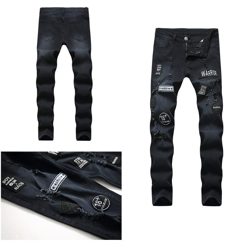 140bf9b8d3f 2019 Spring and Autumn New Men's jeans Street Style Youth fashion casual  underwear boys fashion slim pants S-3XL