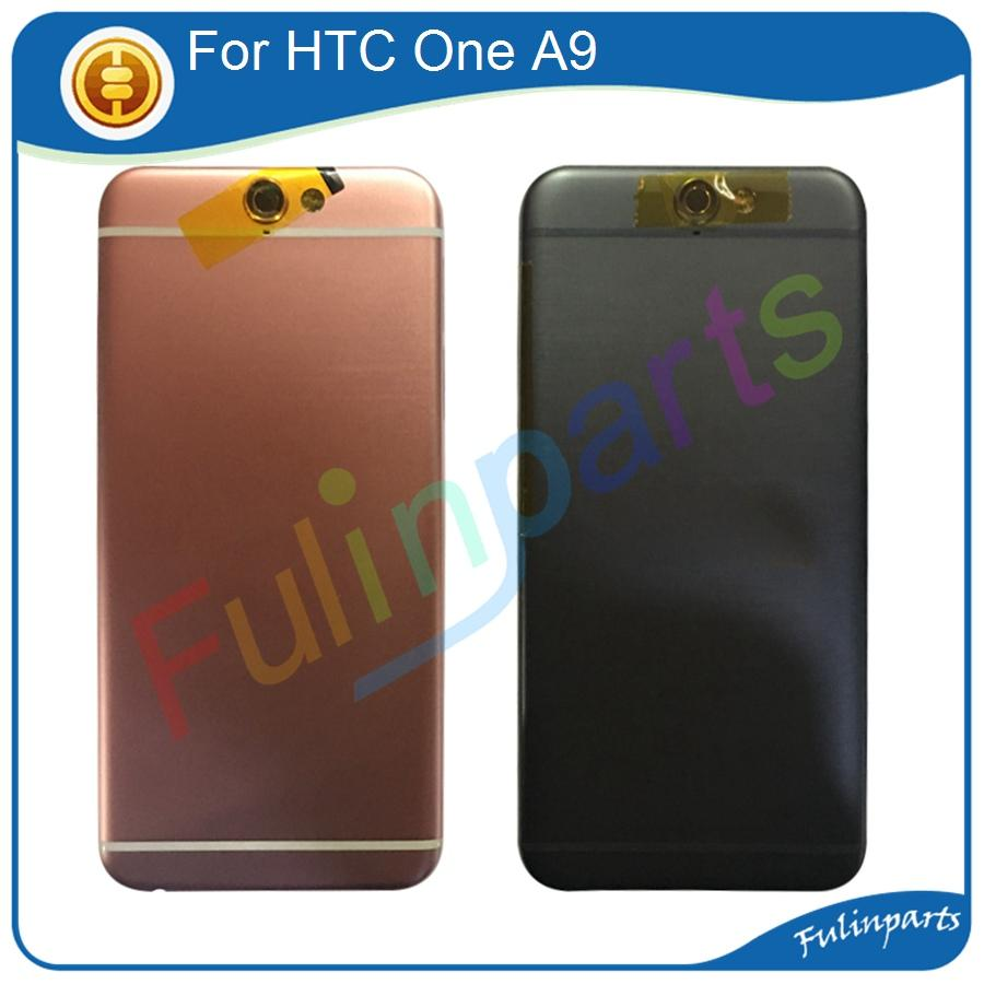 the latest c9aa7 c2961 For HTC One A9 Back Cover Housing Battery Door With Camera Lens +Power /  Volume Button Replacement Parts