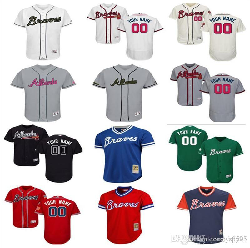 2b4d603a5 2019 2018 Custom Men S Women Youth Majestic Atlanta Braves Jersey Any Your  Name And Your Number Home Blue Grey White Kids Girls Baseball Jer From  Hpy01