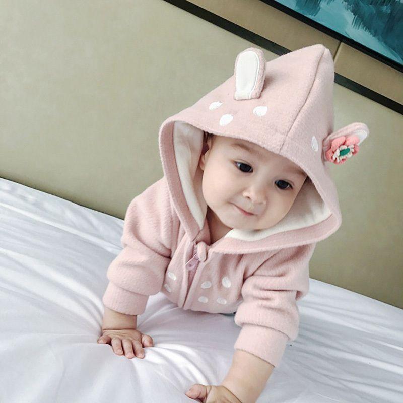 11ea470fe Newborn Rabbit Ear Coat Baby Girl New Born Coats Fashion Infants ...