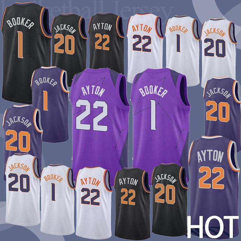 20f5c2741630 2019 22 Ayton 20 Jackson 1 Booker Basketball Jersey Phoenix City Suns Men  2018 2019 NEW Basketball Jersey From Cheap sell jerseys