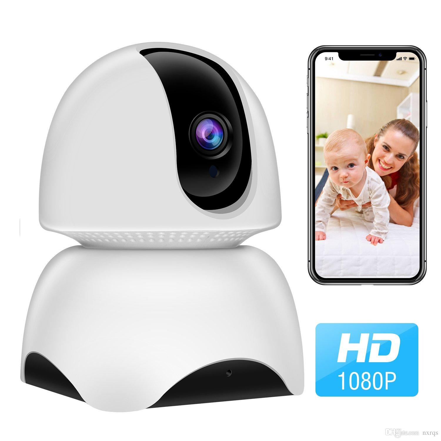 1080P Wireless IP Camera, 360 Home WiFi Security Camera Indoor Surveillance  Camera System Panorama View for Pet/Baby Monitor Remote Viewer N