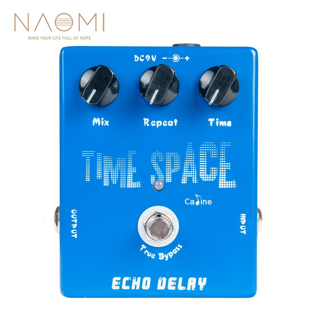 NAOMI Electric Guitar Pedals CP-17 Echo Delay True Bypass Blue 600ms Max Caline CP-17 Pedal Guitar Parts Accessories New