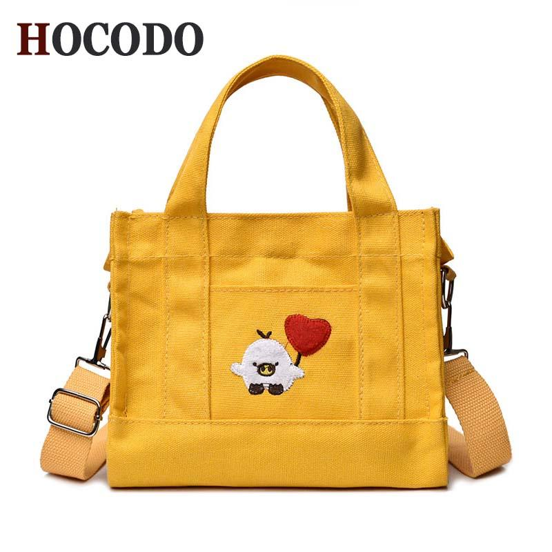 a19d408d33 HOCODO 2018 New Ladies Bag Leisure Crossbody Shoulder Bag Lovely Small  Fashion Women S Canvas Embroidery Handmade Bolsa Cheap Designer Bags Mens  Shoulder ...