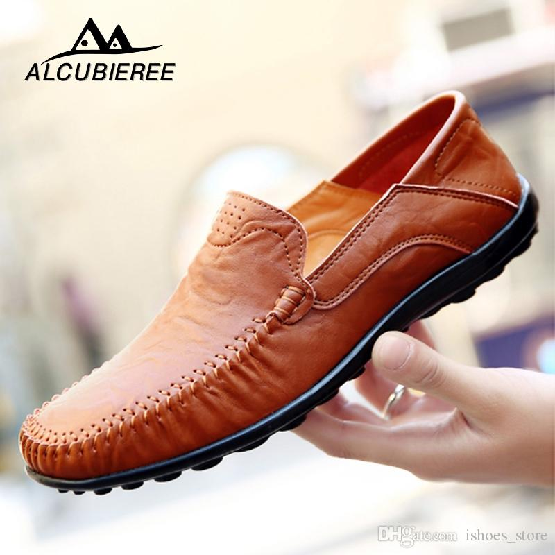 416bccd802a Driving Shoes Men Handmade Genuine Leather Moccasin Black Shoes Casual High  Quality Leather Loafers Men 2019 Big Size  129371 Formal Shoes Shoe Shops  From ...