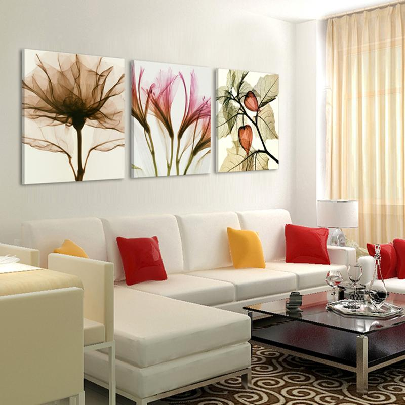 Acheter 3 Panneaux Toile Peinture Moderne Sur Le Mur Image Salon Et ...