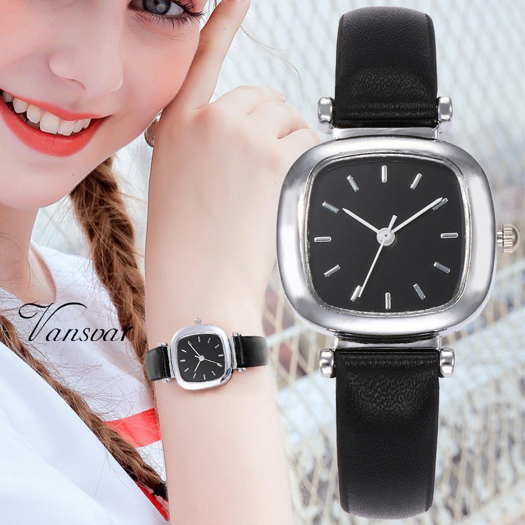e006b6c25709 Compre Señoras De La Moda Relojes De Pulsera Casual Para Mujer Reloj De  Cristal Correa De Cuero Reloj De Pulsera Para Las Mujeres Damas Relojes  Relojes ...