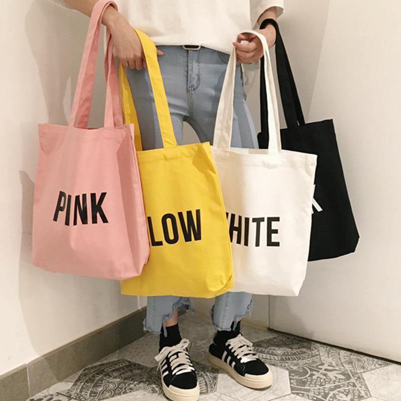 2018 Ladies Duty Canvas Tote Bag Handmade Cotton Shopping School Travel  Women Folding Shoulder Shopping Bags Girls Simple Bag Branded Bags Evening  Bags From ... 4a54a4a54b111