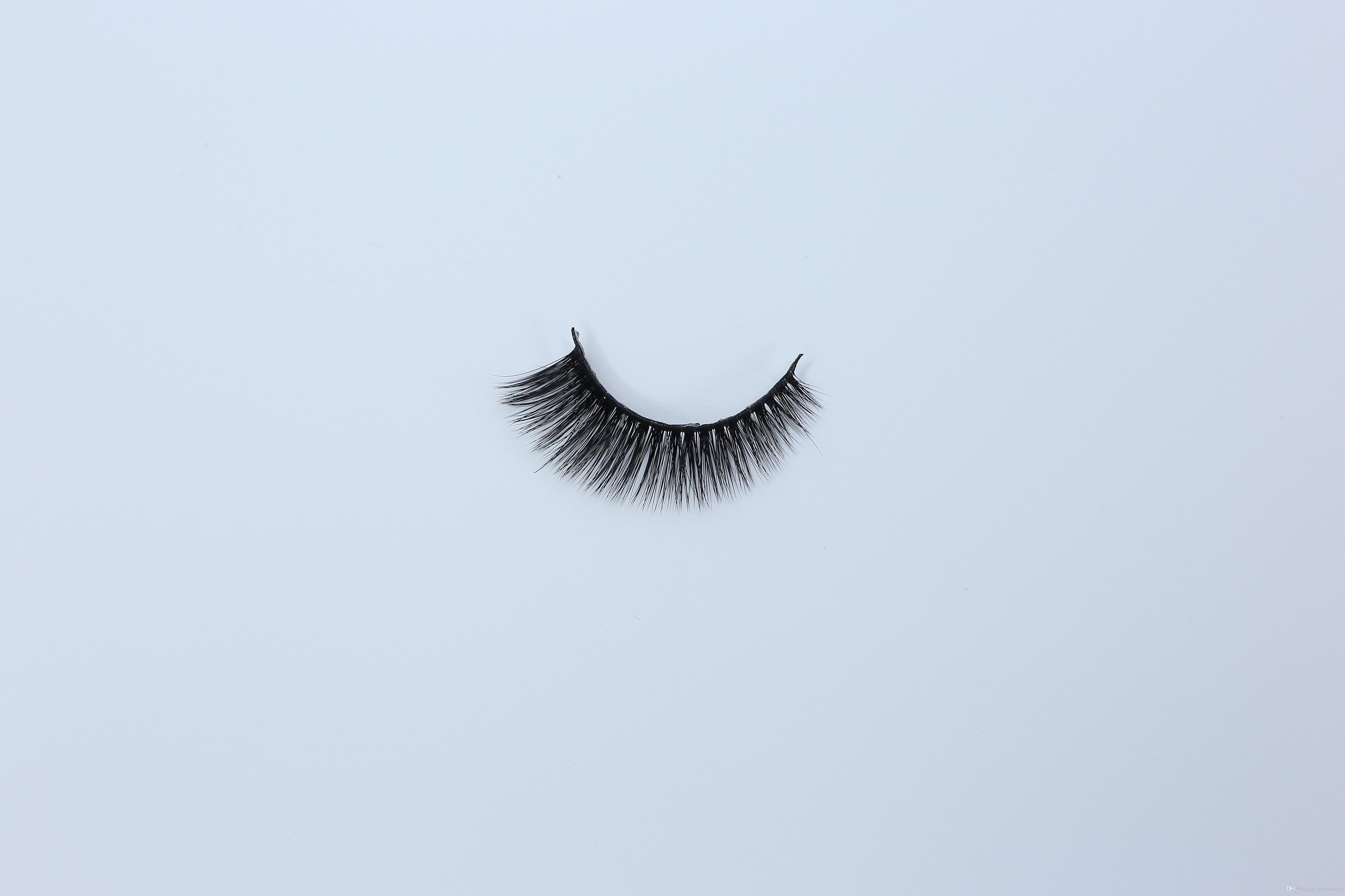 DHL free shipping A series 15 model A09 3D Real mink Eye Lashes Thick false  Eyelashes a pair of false eyelashes with Round box
