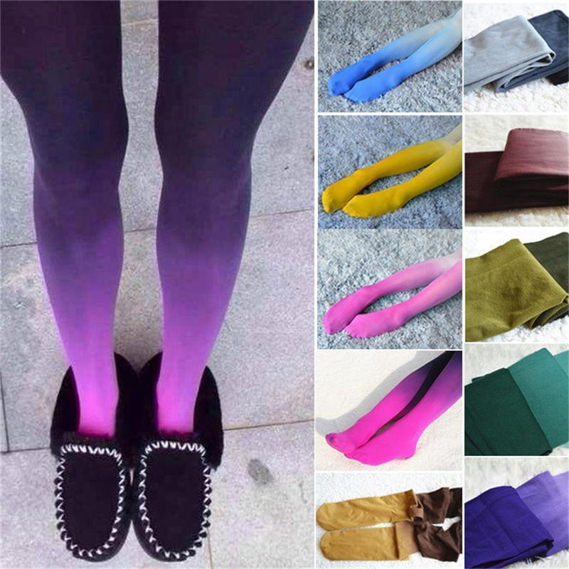 b2a883d7a 2019 120d Womens Four Seasons Velvet Gradient Opaque Seamless Pantyhose  Stockings Candy Color Tights Medias Tayt From Derrick83