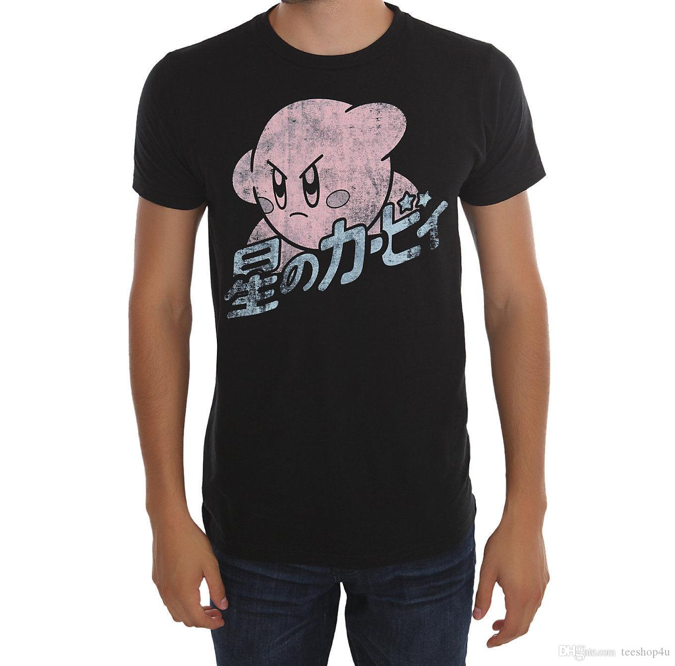 6dade04a8d2 Factory Outlet Kirby T Shirt Nwt Licensed   Official Tee Shirt Men Boy  Premium Short Sleeve Crewneck Cotton XXXL Party Tshirts Gag T Shirts T  Shirts With ...