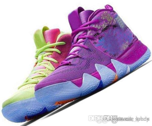 various colors 093cf db572 Kyrie IV 4 4s Green Lucky Charms Mens 2019 All New Easter Halloween  Designer Basketball Shoes Sports sneakers baskets Man Chausseures