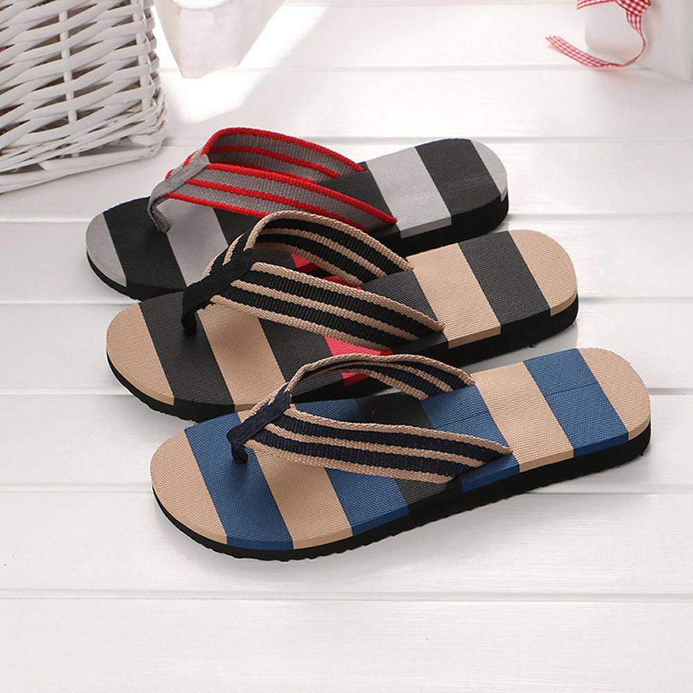 b28488f1c Men summer men shoes slippers mixed colors sandals striped male jpg  1000x1000 Flip flops dhgate sneaker