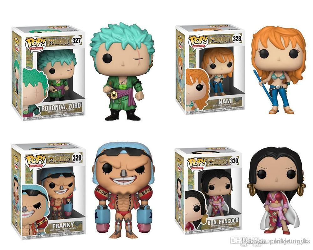Wholesale DHL shipping Funko POP Anime: One Piece Zoro Nami Franky Boa. Hancock Vinyl Action Figure With Box Toy 387