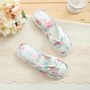 Floral Beach Sandals Bohemia Twill floral Print Slippers Retro Flip Flops Summer Home Shoes Outdoor Beach Slippers GGA1646