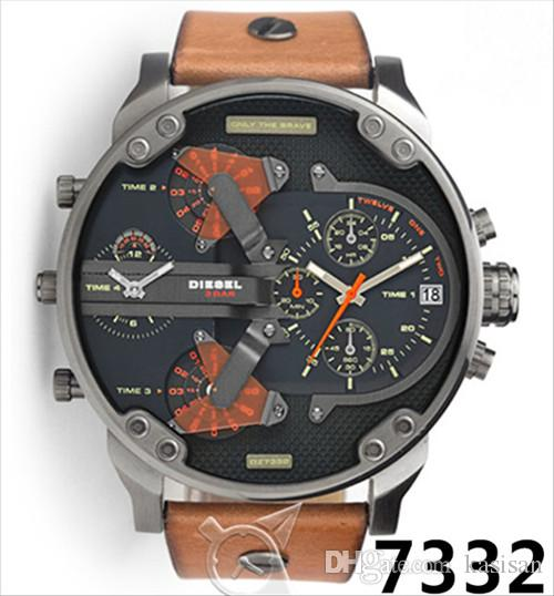 fd40d0c5110 Compre Clássico DZ7313 Relógios Mens Top Marca De Luxo Atmosf Relógio  Relógio De Moda De Quartzo De Alta Qualidade Vestido Relógio Homens De  Couro Marrom ...