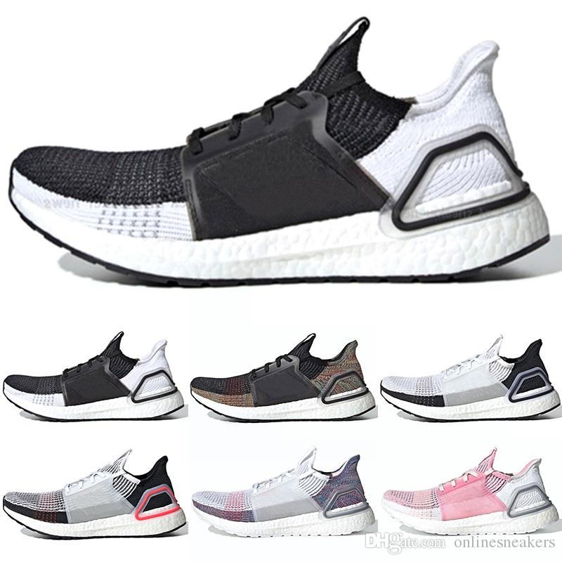 e8796d5e5e47a 2019 2019 Ultra Boost 19 Men Women Running Shoes Ultraboost 5.0 Laser Red  Dark Pixel Core Black Ultraboosts Trainer Sports Sneaker Size 5 12 From ...