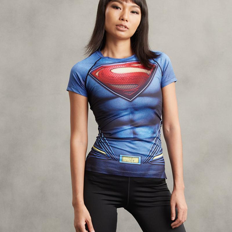 8e712a365 Compre Batman Vs Superman 3D Impreso Camiseta Camisa De Compresión De Las  Mujeres Señoras Raglan Manga Corta Cosplay Hot Tops Ropa Femenina J190410 A   27.44 ...