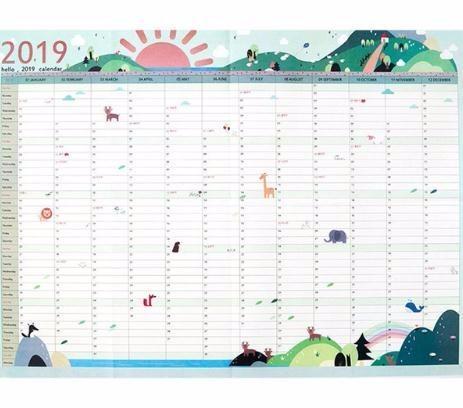 Calendario Diario 2019.2019 Ano 365 Dias Papel Muro Calendario Oficina Escuela Planificador Diario Notas Estudio Grande Plan De Ano Nuevo Calendario