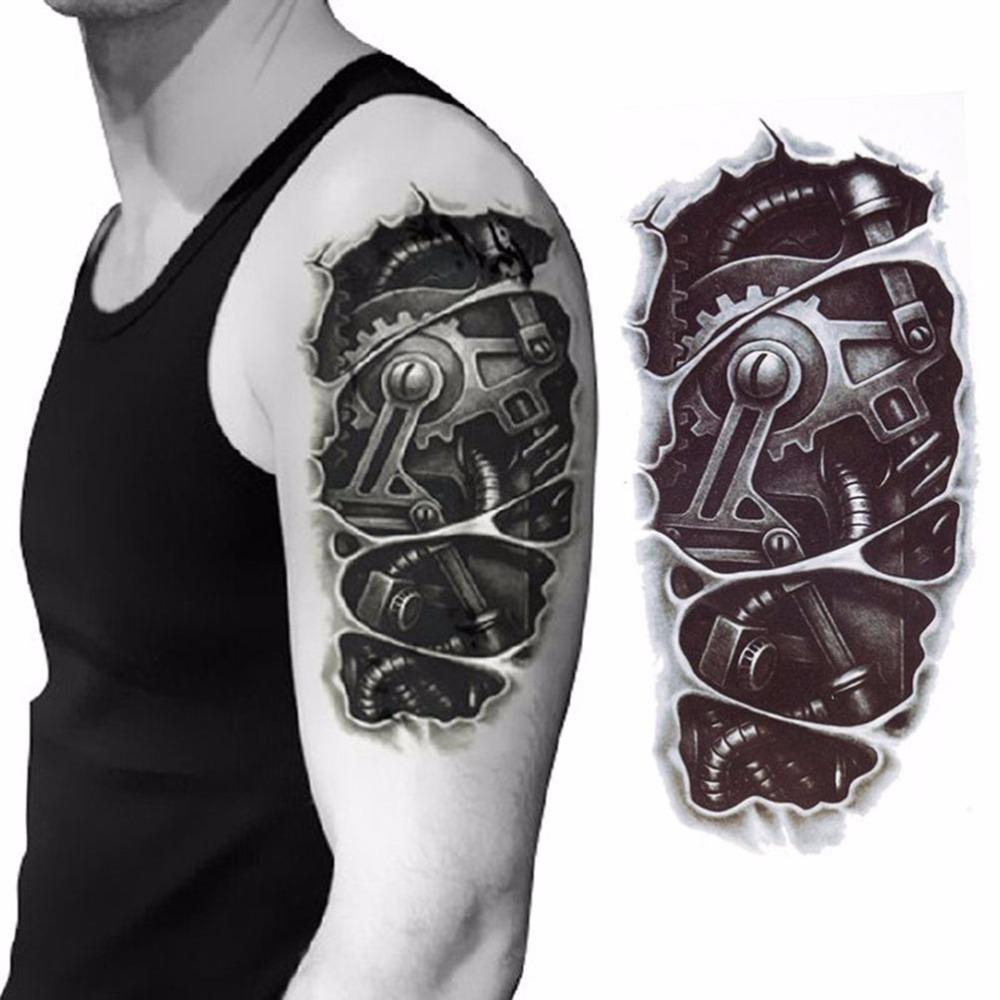 3d Mecánico Brazo De Fijación Tuerca Etiqueta Engomada Del Tatuaje