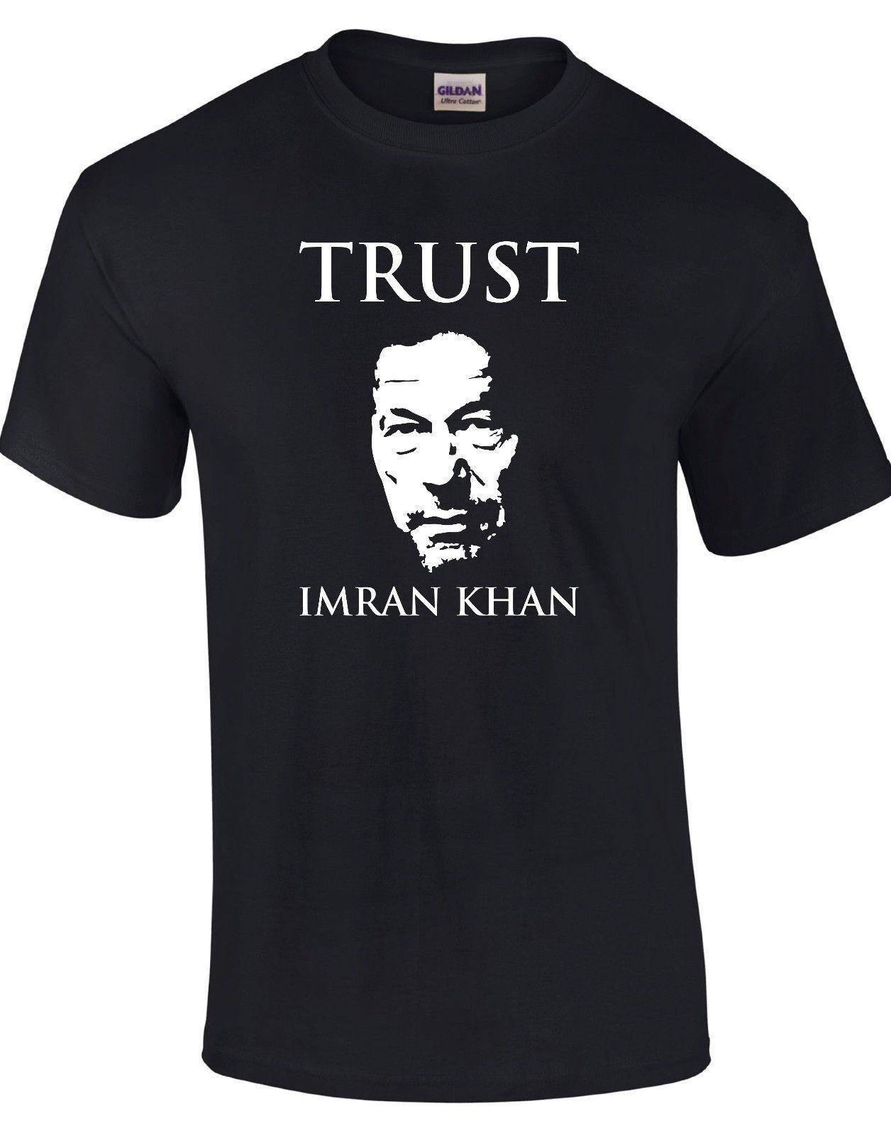 f9c3f28a2eb3 TRUST - IMRAN KHAN Black T-SHIRT - PAKISTAN ELECTION - LADIES KIDS ...