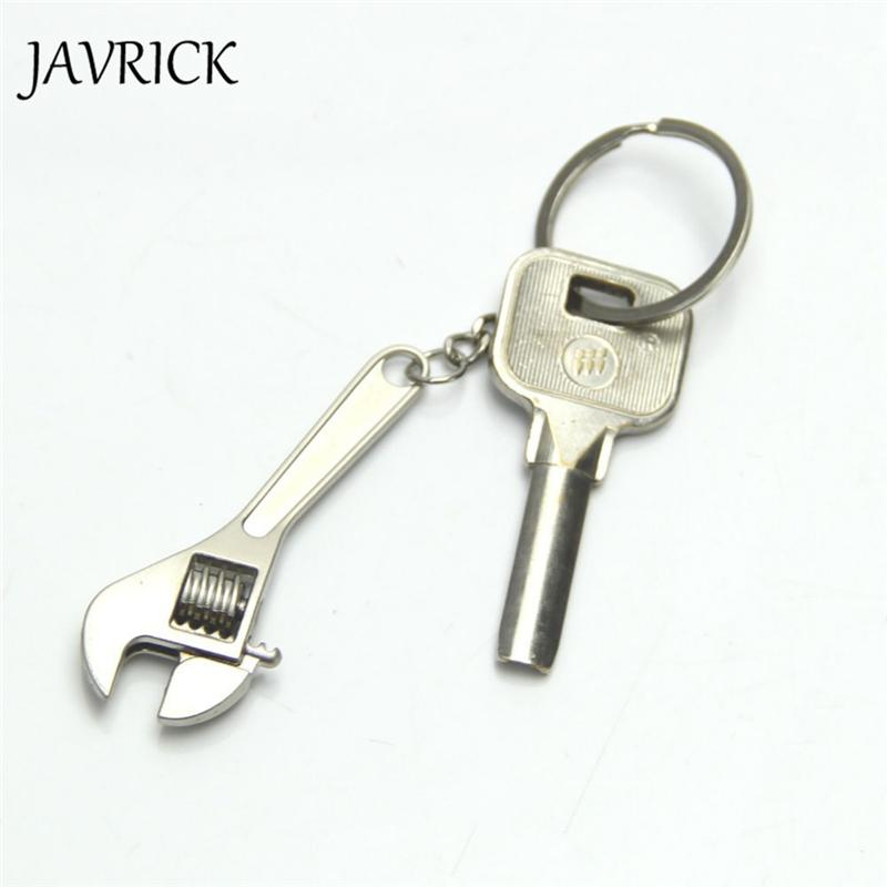 Creative Tool Wrench Spanner Keyring Key Chain Ring Metal Keychain Adjustable