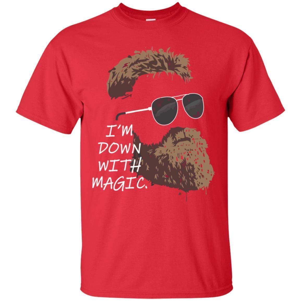 quality design dd831 0b5a4 Fitzmagic I m Down With Magic T Shirt Red, Dark Blue Color Full Size Tees  Custom Jersey free shipping t shirt