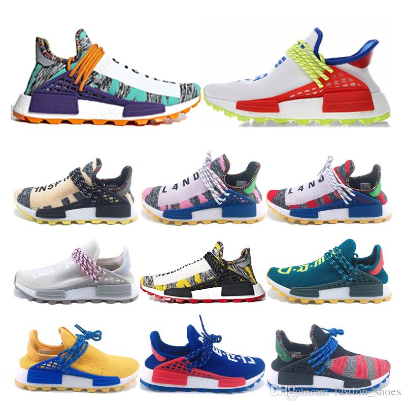 official photos db668 3753b Scarpe Running Migliori Miglior Prezzo PW Human Race Scarpe Da Corsa Hu  Trail X Uomo Pharrell Williams Holi Scarpe Da Ginnastica MC Nerd White  Homecoming ...