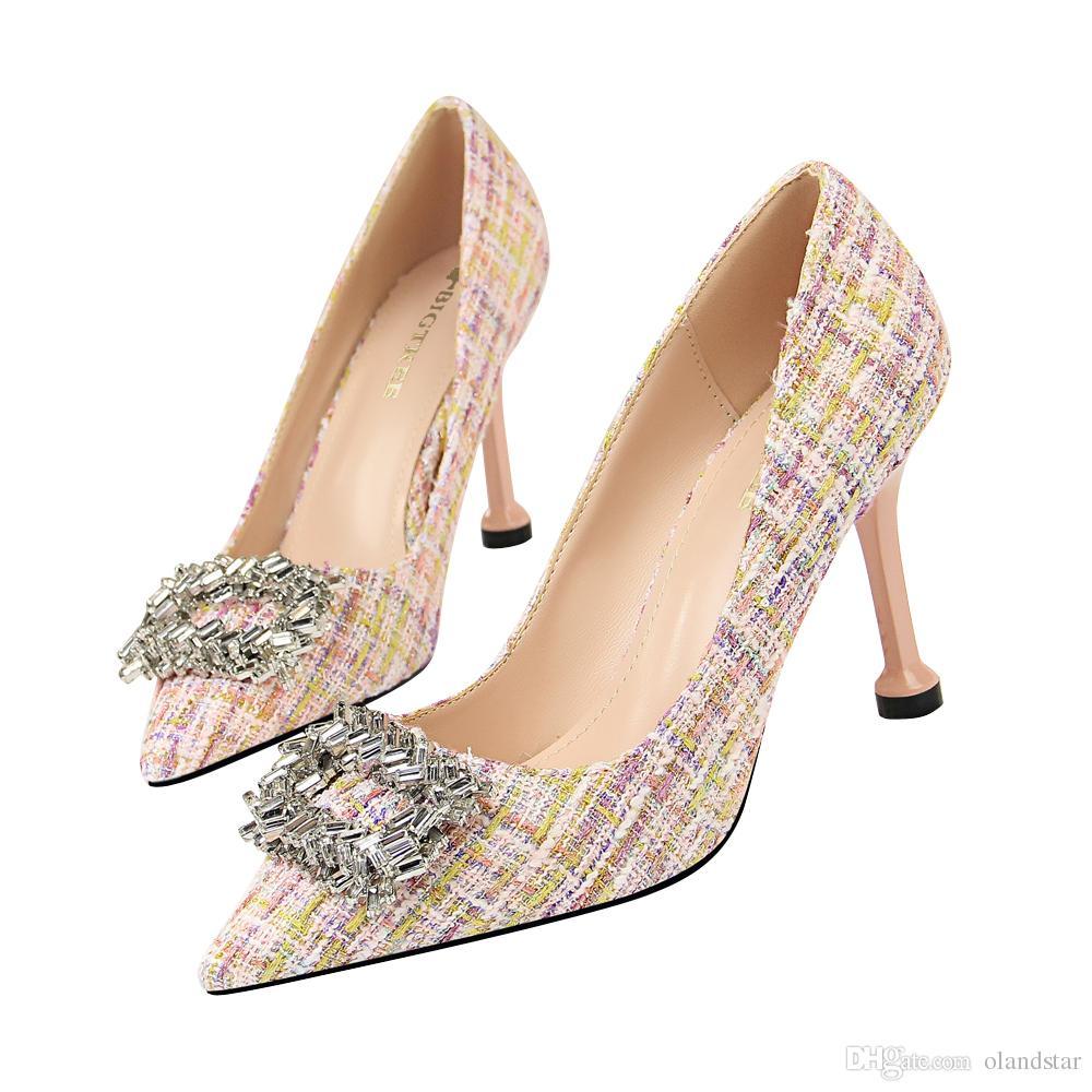 Acquista Scarpe Da Donna Strass In Metallo Scarpe Da Donna Décolleté Con Tacco  Alto Scarpe Da Festa Festa Di Matrimonio A Spillo Scarpe Da Cerimonia A ... c36fdd67e33