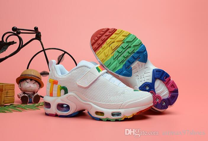 d958537ed7 2019 Designer Kids Tn MERCURIAL Running Shoes Children KPU Tn Trainers  Sports Toddler Sneakers Plus TN Ultra SE TPU Outdoor Athletic Tn Mercurial  TN Kids ...