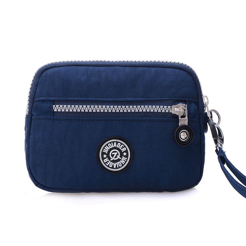 c49680322118 Small Fashion Women Clutch Bag Nylon Waterproof Nylon Multiple Wristlets  Soft Zipper Pockets Style Shoulder Bag Purse White Handbags Satchel  Handbags From ...
